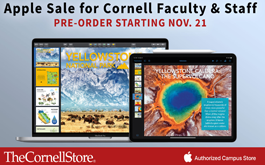 apple sale for cornell faculty and staff