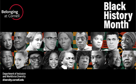 black history month zoom background with photos of historic Black people