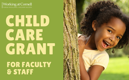 Child Care Grant for faculty & staff, cute little girl
