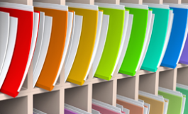 photo of row of color-coded file folders