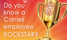 graphic: Do you know a Cornell employee rockstar?