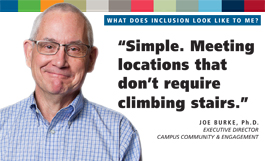 Diversity includes Disability poster featuring Joe Burke