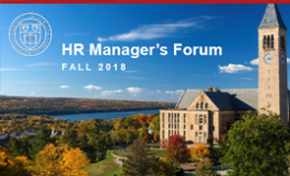 "cover slide from presentation ""HR Managers Forum"""