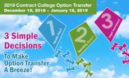 Option Transfer postcard 2019, blue sky & kites