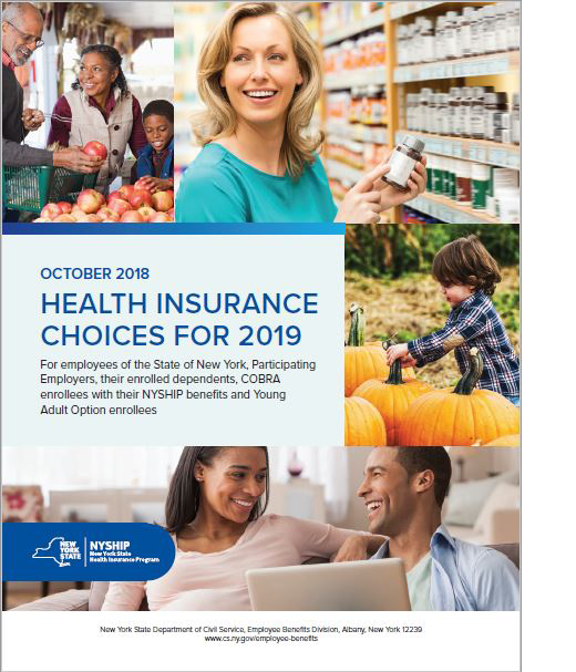Cover of NYSHIP Active Choices Booklet 2019