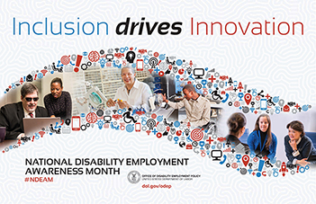 National Disability Employment Awareness Month poster: Inclusion Drives Innovation