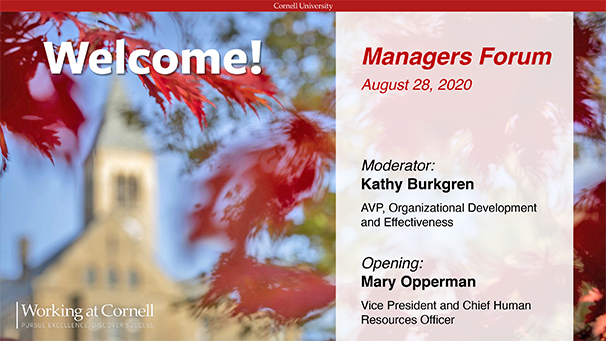 Managers Forum PPT cover