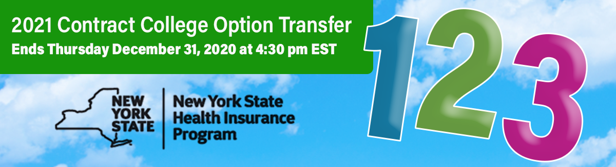 Contract College Option Transfer Banner: December 6 - 31, 2019
