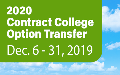 2020 Contract College Option Transfer Dec. 6-31, 2019