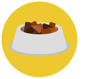 bowl of pet food icon