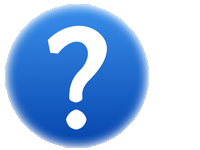 question mark icon in blue sphere