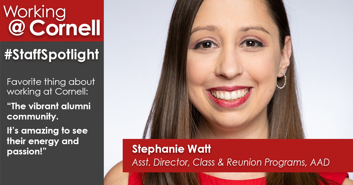 Staff spotlight: Stephanie Watt