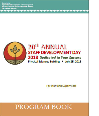 Cover of 2018 SDD program booklet