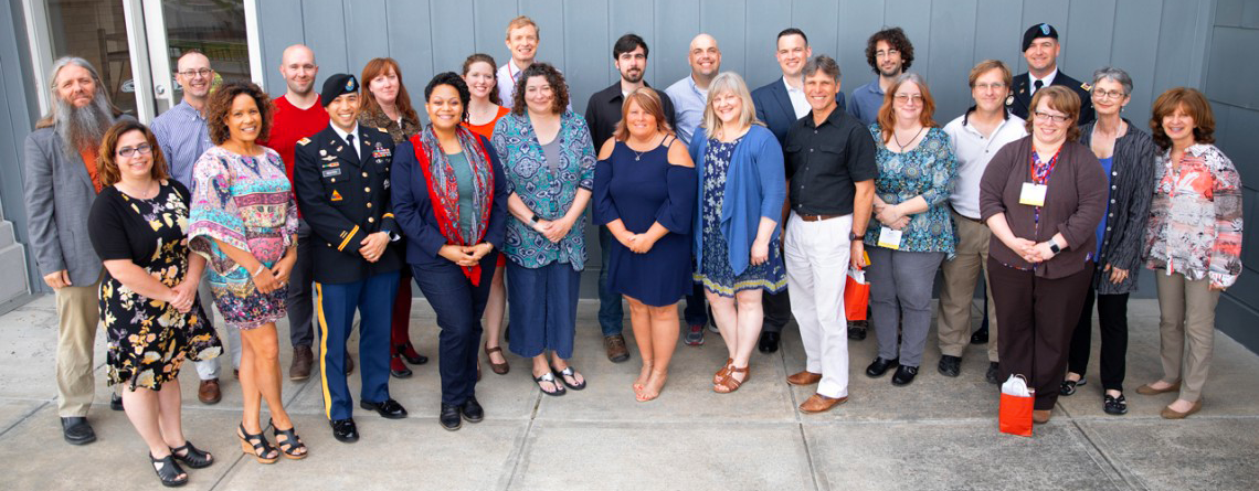 group photo of 2019 staff grads