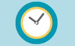 Workday time tracking icon - clock